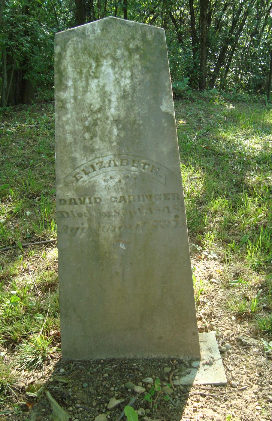 Garinger Cemetery, Monroe Township, Randolph County, Indiana